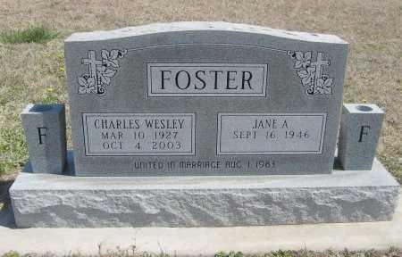 FOSTER, CHARLES WESLEY - Chautauqua County, Kansas   CHARLES WESLEY FOSTER - Kansas Gravestone Photos