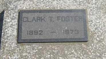 FOSTER, CLARK T - Chautauqua County, Kansas   CLARK T FOSTER - Kansas Gravestone Photos