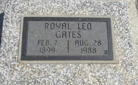 GATES, ROYAL LEO - Chautauqua County, Kansas | ROYAL LEO GATES - Kansas Gravestone Photos