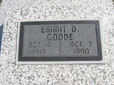 GOODE, EMMIT D - Chautauqua County, Kansas | EMMIT D GOODE - Kansas Gravestone Photos