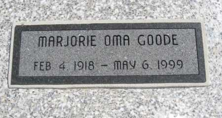 GOODE, MARJORIE OMA - Chautauqua County, Kansas | MARJORIE OMA GOODE - Kansas Gravestone Photos