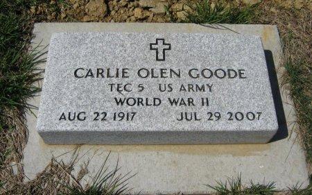 GOODE, CARLIE OLEN (VETERAN WWII) - Chautauqua County, Kansas | CARLIE OLEN (VETERAN WWII) GOODE - Kansas Gravestone Photos