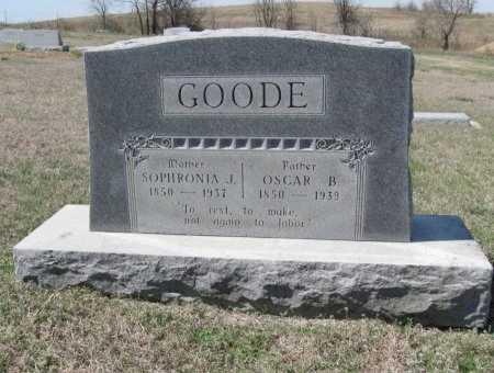 GOODE, OSCAR B - Chautauqua County, Kansas | OSCAR B GOODE - Kansas Gravestone Photos
