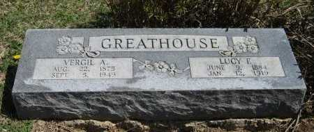 JONES GREATHOUSE, LUCY F - Chautauqua County, Kansas | LUCY F JONES GREATHOUSE - Kansas Gravestone Photos