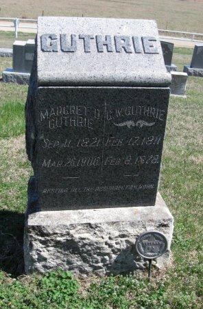 GUTHRIE, MARGARET D - Chautauqua County, Kansas   MARGARET D GUTHRIE - Kansas Gravestone Photos