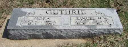 GUTHRIE, NORA - Chautauqua County, Kansas | NORA GUTHRIE - Kansas Gravestone Photos