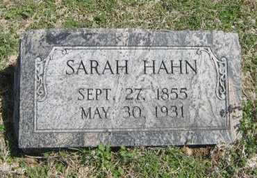HAHN, SARAH - Chautauqua County, Kansas   SARAH HAHN - Kansas Gravestone Photos