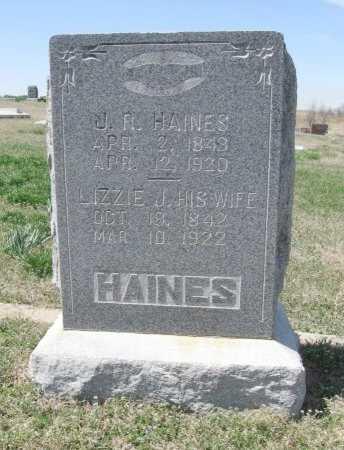 HAINES, LIZZIE J - Chautauqua County, Kansas | LIZZIE J HAINES - Kansas Gravestone Photos