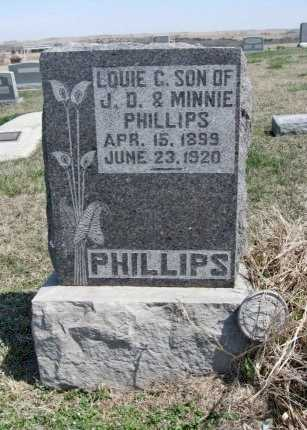 PHILLIPS, LOUIE C (VETERAN WWI) - Chautauqua County, Kansas | LOUIE C (VETERAN WWI) PHILLIPS - Kansas Gravestone Photos
