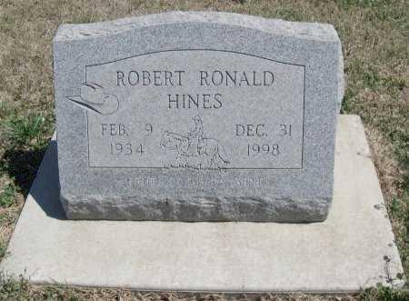 HINES, ROBERT RONALD - Chautauqua County, Kansas   ROBERT RONALD HINES - Kansas Gravestone Photos