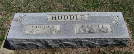 HUDDLE, EVERETT ELTON - Chautauqua County, Kansas   EVERETT ELTON HUDDLE - Kansas Gravestone Photos