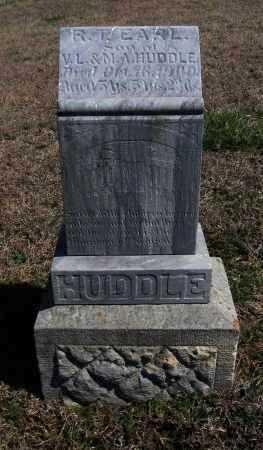HUDDLE, R T EARL - Chautauqua County, Kansas   R T EARL HUDDLE - Kansas Gravestone Photos