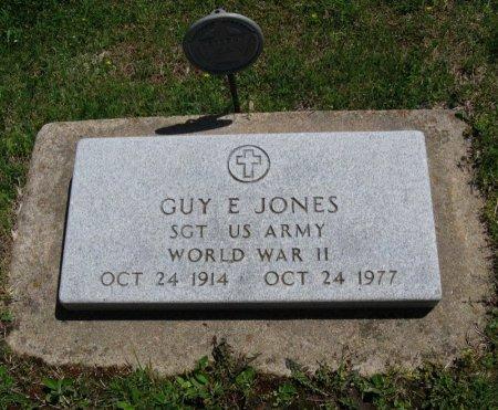JONES, GUY F (VETERAN WWII) - Chautauqua County, Kansas | GUY F (VETERAN WWII) JONES - Kansas Gravestone Photos