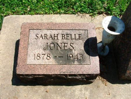 JONES, SARAH BELLE - Chautauqua County, Kansas   SARAH BELLE JONES - Kansas Gravestone Photos