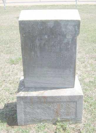 KEIPER, JOHN A - Chautauqua County, Kansas | JOHN A KEIPER - Kansas Gravestone Photos