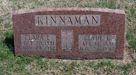 KINNAMAN, CLARA E - Chautauqua County, Kansas   CLARA E KINNAMAN - Kansas Gravestone Photos
