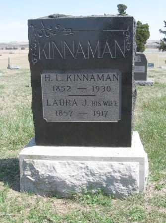 WILEY KINNAMAN, LAURA J - Chautauqua County, Kansas | LAURA J WILEY KINNAMAN - Kansas Gravestone Photos