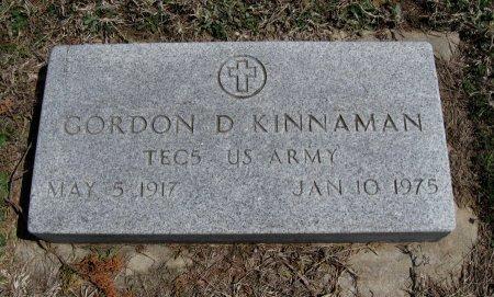 KINNAMAN, GORDON D (VETERAN WWII) - Chautauqua County, Kansas   GORDON D (VETERAN WWII) KINNAMAN - Kansas Gravestone Photos