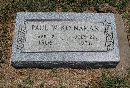 KINNAMAN, PAUL W - Chautauqua County, Kansas | PAUL W KINNAMAN - Kansas Gravestone Photos