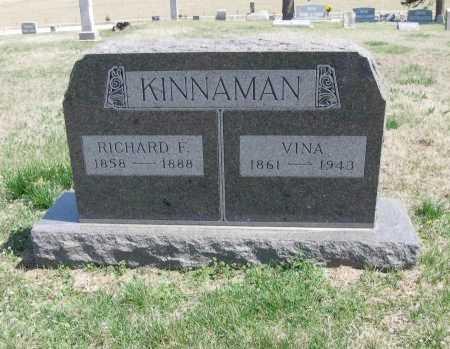 KINNAMAN, RICHARD F - Chautauqua County, Kansas   RICHARD F KINNAMAN - Kansas Gravestone Photos