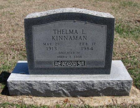 KINNAMAN, THELMA L - Chautauqua County, Kansas | THELMA L KINNAMAN - Kansas Gravestone Photos