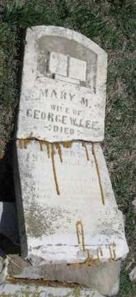 LEE, MARY M - Chautauqua County, Kansas   MARY M LEE - Kansas Gravestone Photos