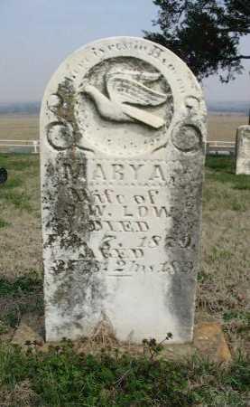 LOW, MARY A - Chautauqua County, Kansas   MARY A LOW - Kansas Gravestone Photos