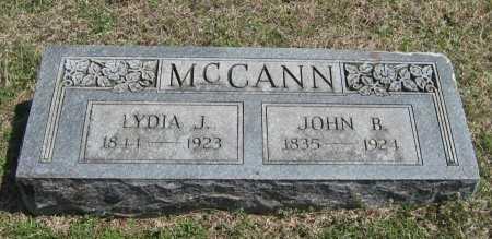 MCCANN, JOHN B - Chautauqua County, Kansas | JOHN B MCCANN - Kansas Gravestone Photos