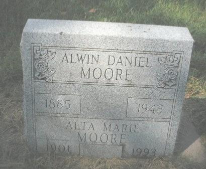 MOORE, ALTA MARIE - Chautauqua County, Kansas   ALTA MARIE MOORE - Kansas Gravestone Photos