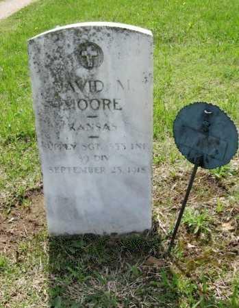MOORE, DAVID MILTON (VETERAN WWI, KIA) - Chautauqua County, Kansas | DAVID MILTON (VETERAN WWI, KIA) MOORE - Kansas Gravestone Photos