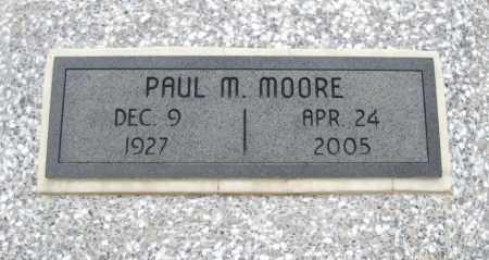 MOORE, PAUL MONROE - Chautauqua County, Kansas | PAUL MONROE MOORE - Kansas Gravestone Photos