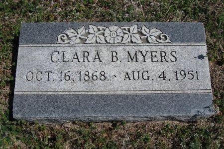 MYERS, CLARA BELL - Chautauqua County, Kansas | CLARA BELL MYERS - Kansas Gravestone Photos