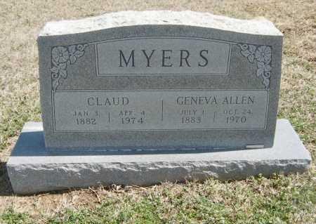 MYERS, CLAUD - Chautauqua County, Kansas | CLAUD MYERS - Kansas Gravestone Photos