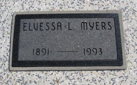 MYERS, ELVESSA L - Chautauqua County, Kansas   ELVESSA L MYERS - Kansas Gravestone Photos