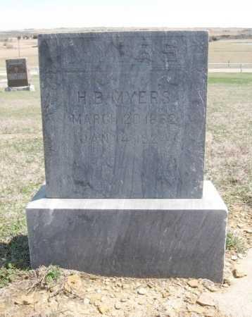MYERS, HUGENE BEAUREGARD - Chautauqua County, Kansas   HUGENE BEAUREGARD MYERS - Kansas Gravestone Photos