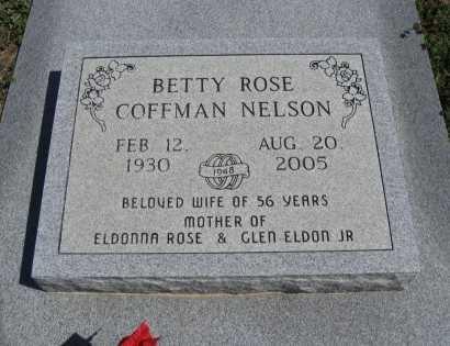 NELSON, BETTY ROSE - Chautauqua County, Kansas   BETTY ROSE NELSON - Kansas Gravestone Photos