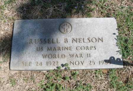 NELSON, RUSSELL BURDEN   (VETERAN WWII) - Chautauqua County, Kansas | RUSSELL BURDEN   (VETERAN WWII) NELSON - Kansas Gravestone Photos