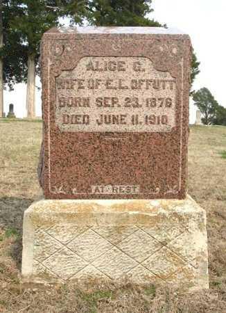 OBENCHAIN OFFUTT, ALICE GERTRUDE - Chautauqua County, Kansas   ALICE GERTRUDE OBENCHAIN OFFUTT - Kansas Gravestone Photos