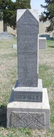 OFFUTT, SARAH ELIZABETH - Chautauqua County, Kansas   SARAH ELIZABETH OFFUTT - Kansas Gravestone Photos
