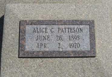 PATTESON, ALICE C - Chautauqua County, Kansas | ALICE C PATTESON - Kansas Gravestone Photos
