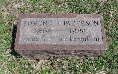 PATTESON, EDMOND H - Chautauqua County, Kansas | EDMOND H PATTESON - Kansas Gravestone Photos
