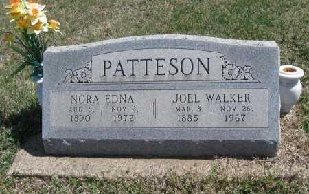 PATTESON, NORA EDNA - Chautauqua County, Kansas   NORA EDNA PATTESON - Kansas Gravestone Photos