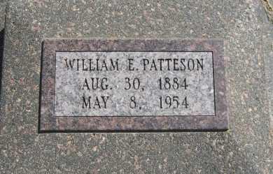 PATTESON, WILLIAM E - Chautauqua County, Kansas | WILLIAM E PATTESON - Kansas Gravestone Photos