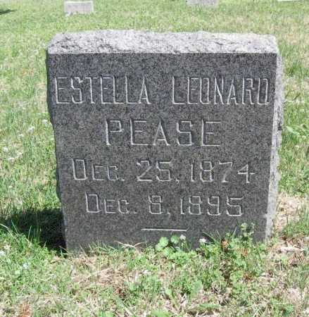 LEONARD PEASE, ESTELLA - Chautauqua County, Kansas | ESTELLA LEONARD PEASE - Kansas Gravestone Photos