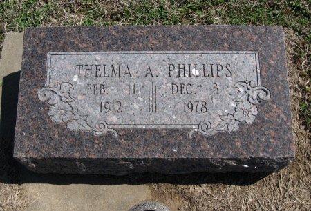 PHILLIPS, THELMA A - Chautauqua County, Kansas | THELMA A PHILLIPS - Kansas Gravestone Photos