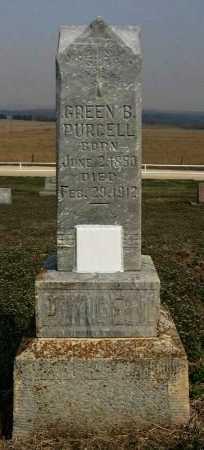 PURCELL, GREEN BAXTER - Chautauqua County, Kansas   GREEN BAXTER PURCELL - Kansas Gravestone Photos