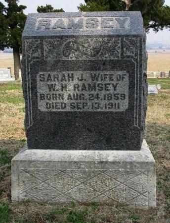 RAMSEY, SARAH J - Chautauqua County, Kansas | SARAH J RAMSEY - Kansas Gravestone Photos