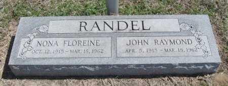 HENDRIX RANDEL, NONA FLOREINE - Chautauqua County, Kansas | NONA FLOREINE HENDRIX RANDEL - Kansas Gravestone Photos