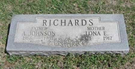 RICHARDS, ANDREW JOHNSON - Chautauqua County, Kansas | ANDREW JOHNSON RICHARDS - Kansas Gravestone Photos