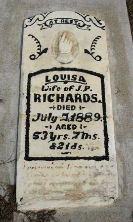 RICHARDS, LOUISA - Chautauqua County, Kansas | LOUISA RICHARDS - Kansas Gravestone Photos